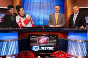 Hockeytown pic with Fox sports screen