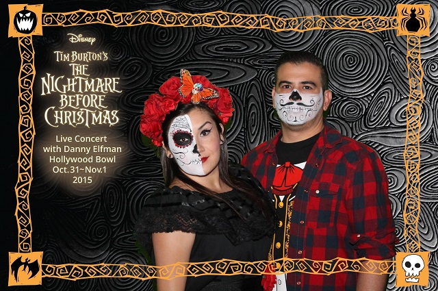 Couple with Day of the Dead makeup
