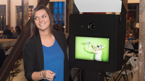 photo booth for sale with green screen